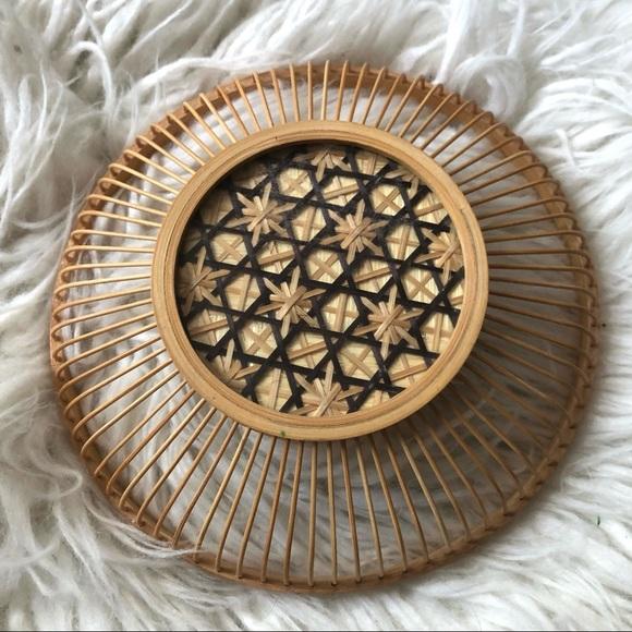 Vintage Wicker Rattan Acetate Hanging Basket